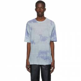 Our Legacy Blue Sheer Linen Box T-Shirt M3203KS
