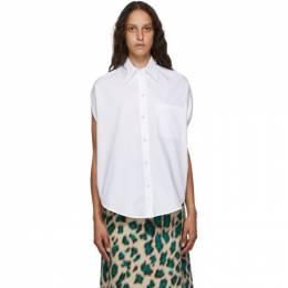 Mm6 Maison Margiela White Circle Shirt S52DL0139 S47294