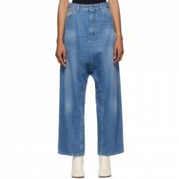 Mm6 Maison Margiela Blue Baggy Crotch Jeans S52LA0134 S30460