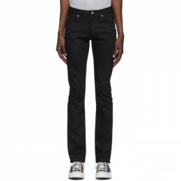 Naked And Famous Denim Black Stretch Skinny Guy Jeans 013011