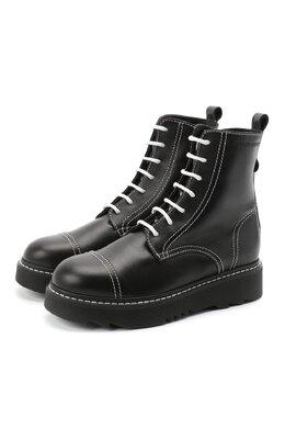 Кожаные ботинки Emporio Armani XXN004/X0I35/35-40