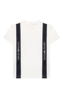 Хлопковая футболка Emporio Armani 6HHTG4/1JTUZ
