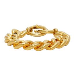 Mm6 Maison Margiela Gold Chunky Curb Chain Bracelet S52UY0053 S12717
