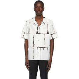 Valentino Black and White Square Drop Print Shirt UV3AA7696G7