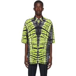 Valentino Black and Green Pop Skin Printed Shirt UV3AAB606ER