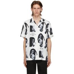Wacko Maria White Bob Marley Edition Hawaiian Short Sleeve Shirt BOBMARLEY-WM-HI03