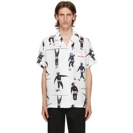 Wacko Maria White Bob Marley Edition Hawaiian Short Sleeve Shirt BOBMARLEY-WM-HI04