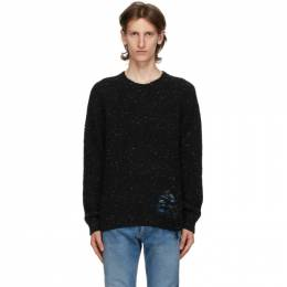 Maison Margiela Black Distressed Hem Sweater S50GP0176 S16788