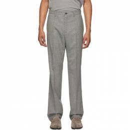 Maison Margiela Black Wool Houndstooth Trousers S50KA0534 S52938