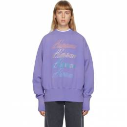 We11Done Purple Iridescent Logo Sweatshirt WD-TS8-20-098-U-PP
