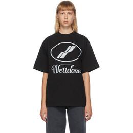 We11Done Black Reflective Logo T-Shirt WD-TP5-19-930-BK