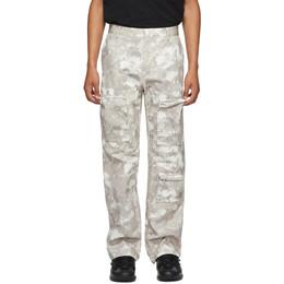 Marcelo Burlon County Of Milan Beige Camo County Cargo Pants CMCA158E20FAB0016143