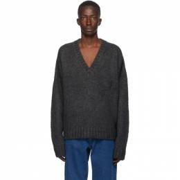We11Done Grey Mohair Oversized Sweater WD-KO8-20-006-U-GY