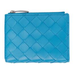 Bottega Veneta Blue Intrecciato Continental Wallet 608059 VCPP3
