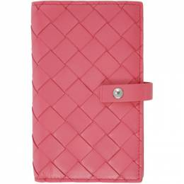 Bottega Veneta Pink Intrecciato Medium French Wallet 609070 VCPP3