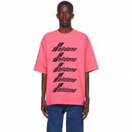We11Done Pink Front Logo T-Shirt WD-TP6-20-074-U-PK