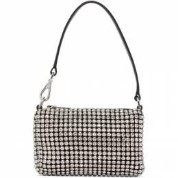 Alexander Wang Black and White Mini Rhinestone Wangloc Bag 20C220P265
