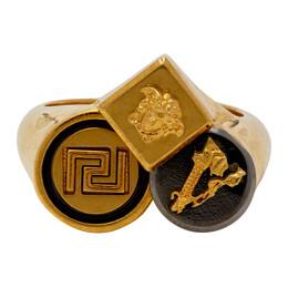 Versace Gold Logo Trio Ring DG58104 DJMS