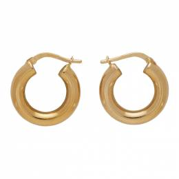 Bottega Veneta Gold Hoop Earrings 573452 VAHU0