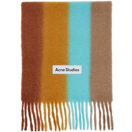 Acne Studios Orange Striped Scarf CA0106