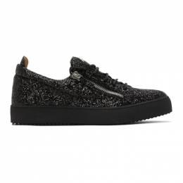 Giuseppe Zanotti Design Black Glitter May London Sneakers RU00007-85954