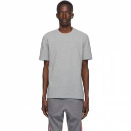 Thom Browne Grey Engineered 4-Bar Pique T-Shirt MJS123A-00050