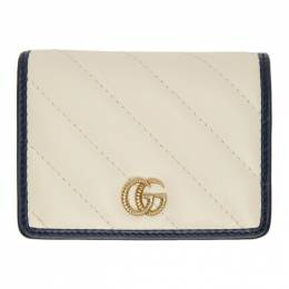 Gucci Off-White GG Marmont Card Wallet 573811 0OLFX