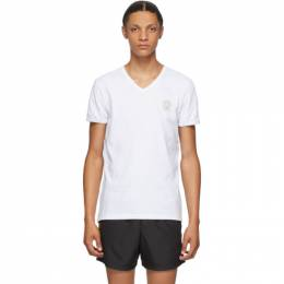 Versace Underwear White Medusa V-Neck T-Shirt AUU01004 A232741