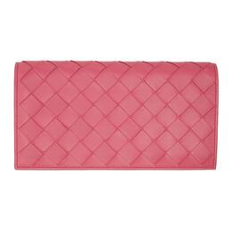 Bottega Veneta Pink Intrecciato Continental Wallet 600873 VCPP3