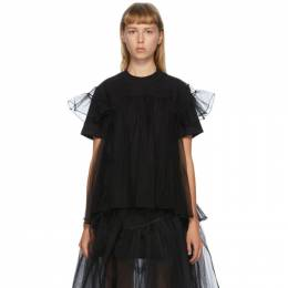 Shushu/Tong SSENSE Exclusive Black Tulle Overlay T-Shirt ss2019to09 CO004
