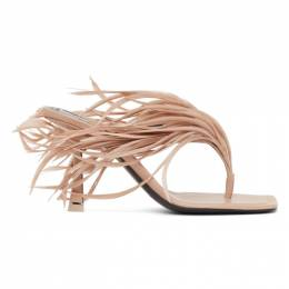 Alexander Wang Beige Feather Ivy Heeled Sandals 30C220S013
