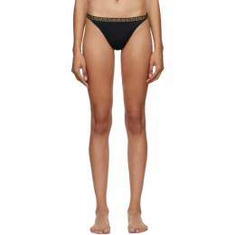 Versace Underwear Black Greek Key Bikini Bottoms ABD01104_A232185_A100