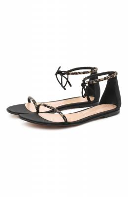 Комбинированные сандалии Luma Gianvito Rossi G61566.05CU0.CWPNENE