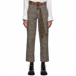 R13 Multicolor Double Belt Slouch Trousers R13W7730-962