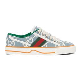 Gucci Blue GG Supreme Gucci Tennis 1977 Sneakers 606110 H0G10
