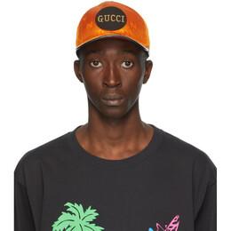 Gucci Orange Off The Grid GG Supreme Baseball Cap 627114 4HK79