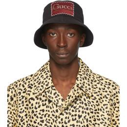Gucci Black Whatever The Season Bucket Hat 627174 4HK02