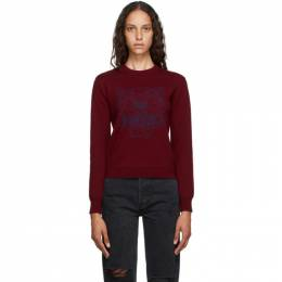 Kenzo Burgundy Tiger Sweater FA62PU5303XA