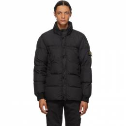 Stone Island Black Down Crinkle Reps NY Jacket 731540123