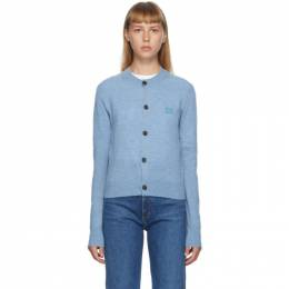 Acne Studios Blue Patch Crewneck Cardigan A60126-