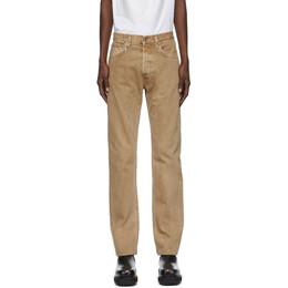 Helmut Lang Beige Masc Hi Straight Jeans J04DM205