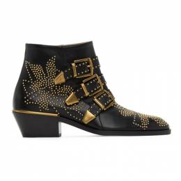 Chloe Black and Gold Susanna Boots CHC16A13475