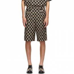 Burberry Black and Beige Check Dan Shorts 8029280