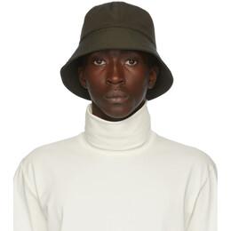 Jil Sander Green Faille Bucket Hat JPUR590911_MR253000