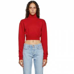 Opening Ceremony Red Self-Tie Cropped Turtleneck YWBA005E20FLE0012500