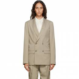 Lemaire Beige Double-Breasted Blazer X 201 JA133 LF431