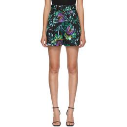 MSGM Multicolor Allover Print Bermuda Shorts 2941MDB14 207551