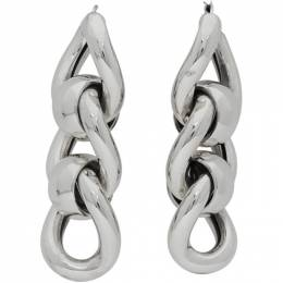 Bottega Veneta Silver Triple Link Earrings 628643 V5070