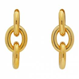 Bottega Veneta Gold Drop Chain Earrings 629146 VAHU0