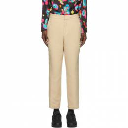 Opening Ceremony Beige Elasticized Stripe Trousers YMCA003F20FAB0010400